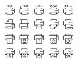 Printer - Line Icons