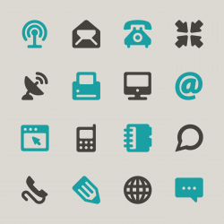 Communication Icons Set 1 - Color Series | EPS10