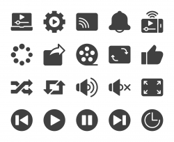 Video Streaming - Icons