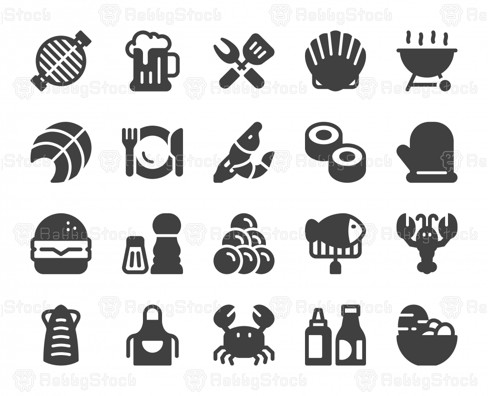 Seafood and Grilled - Icons