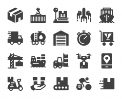 Logistics and Shipping - Icons