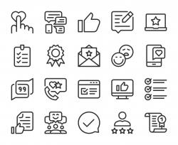 Testimonial - Line Icons