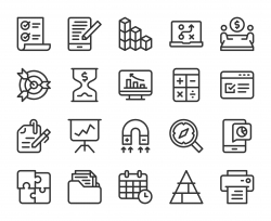 Business Plan - Line Icons