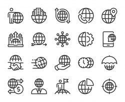 Global Business - Line Icons