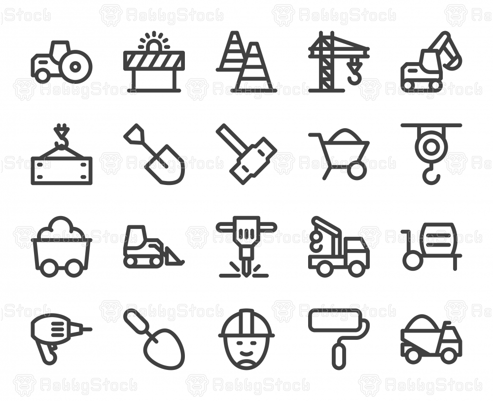 Construction - Bold Line Icons