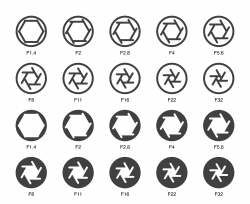 Size of Aperture Set 2 - Multi Bold Icons