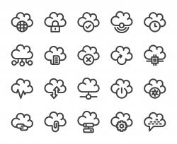 Cloud Computing - Bold Line Icons