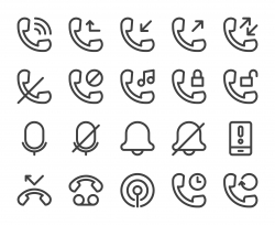Call Logs - Bold Line Icons