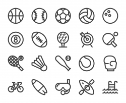 Sport - Bold Line Icons