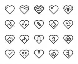 Heart Shape - Bold Line Icons