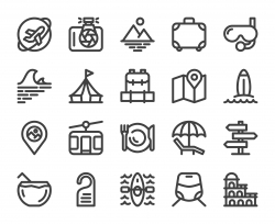 Travel - Bold Line Icons