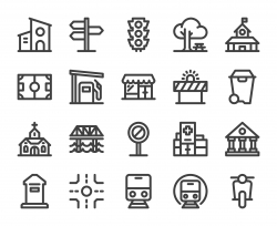City Element - Bold Line Icons