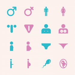 Sex Sign Icons - Color Series | EPS10