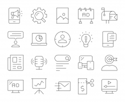 Marketing - Thin Line Icons