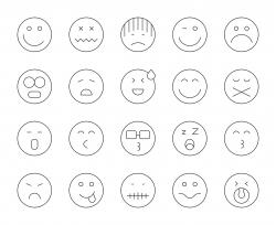 Emoji - Thin Line Icons