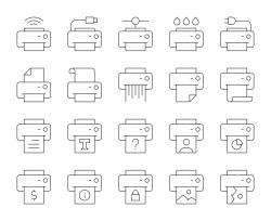 Printer - Thin Line Icons