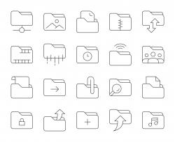 Folder - Thin Line Icons