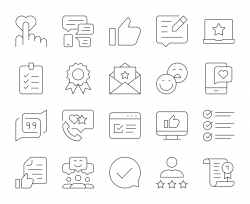 Testimonial - Thin Line Icons