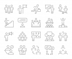 Business People - Thin Line Icons