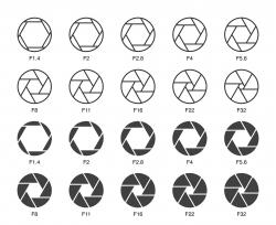 Size of Aperture Set 1 - Multi Light Icons