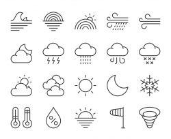 Weather - Light Line Icons
