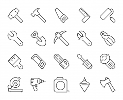 Work Tool - Light Line Icons