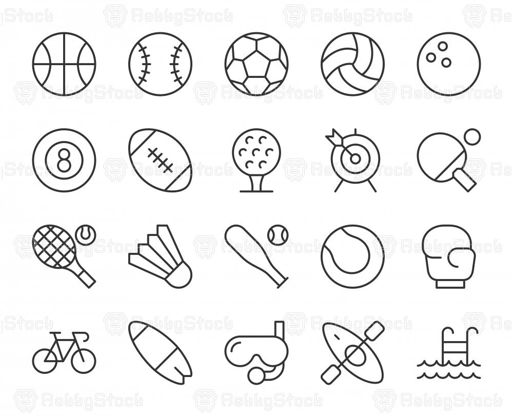 Sport - Light Line Icons