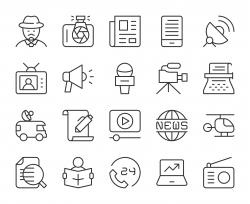 News Reporter - Light Line Icons