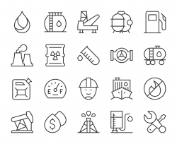 Fuel Industry - Light Line Icons
