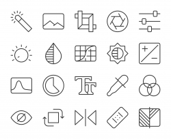 Photo Editor - Light Line Icons