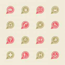 Map Sign Icons Set 1 - Color Series | EPS10