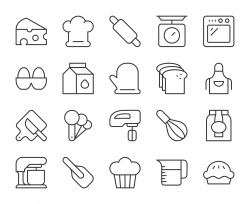 Baking and Bakery - Light Line Icons