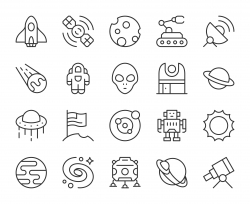 Space - Light Line Icons