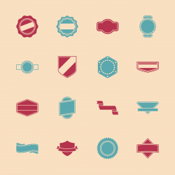 Label Icons Set 1 - Color Series | EPS10