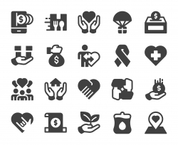 Charity and Donate - Icons