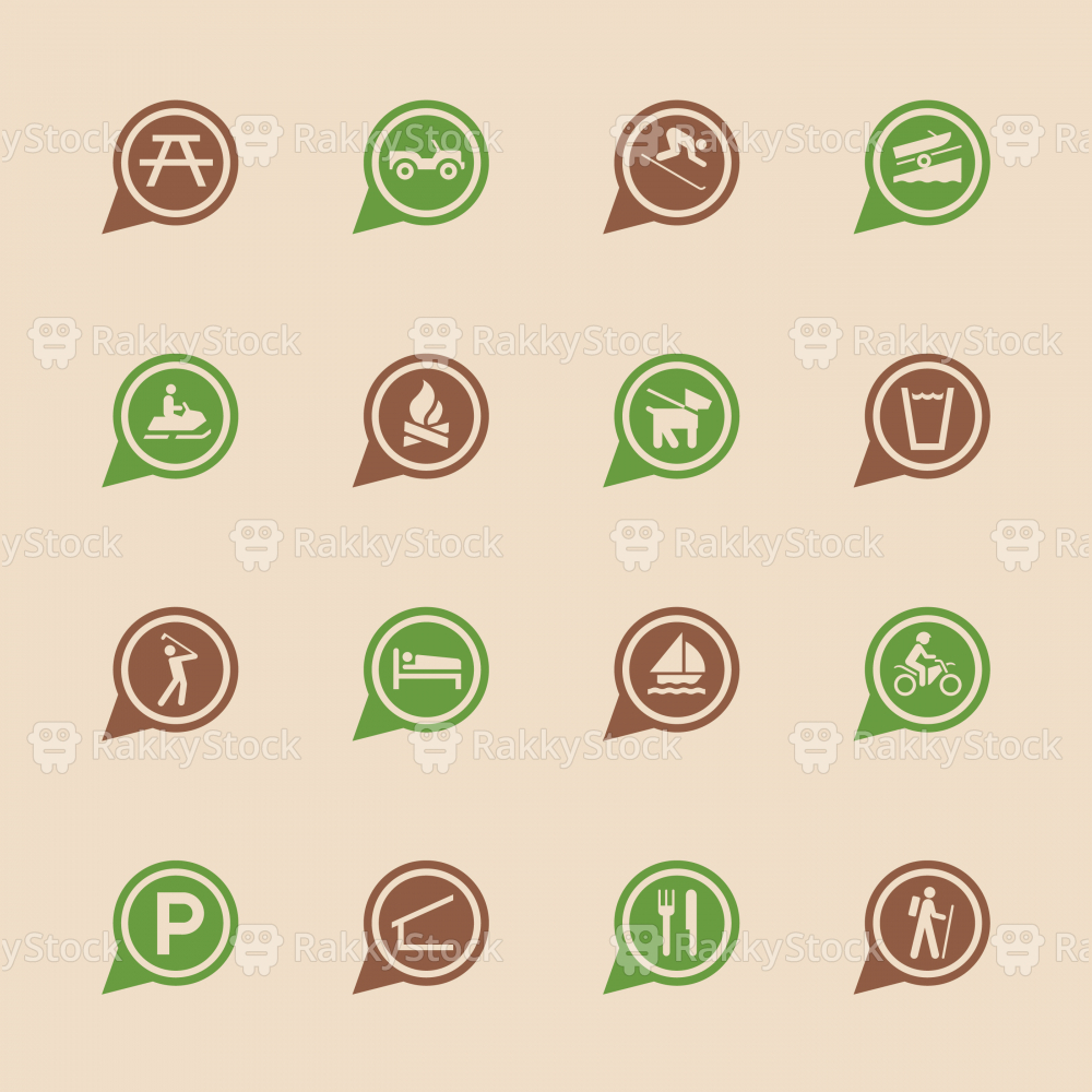 Map Sign Icons Set 2 - Color Series | EPS10