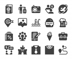 Work and Travel - Icons