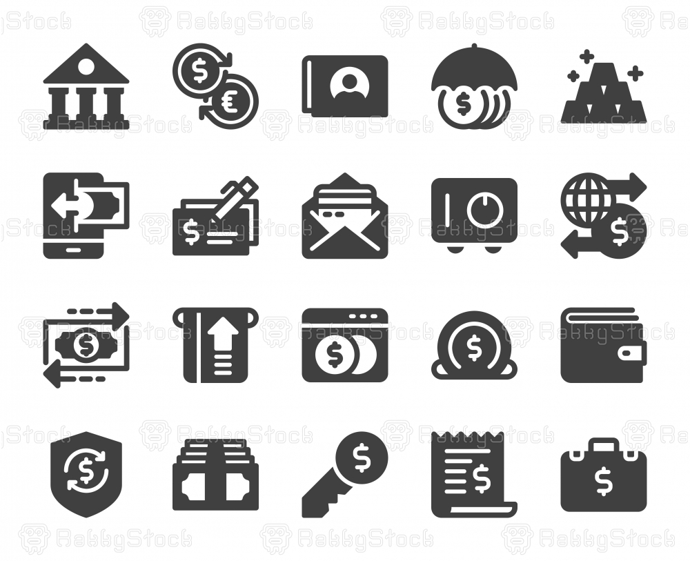 Banking and Accounting - Icons