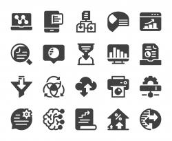 Business Data Analysis - Icons