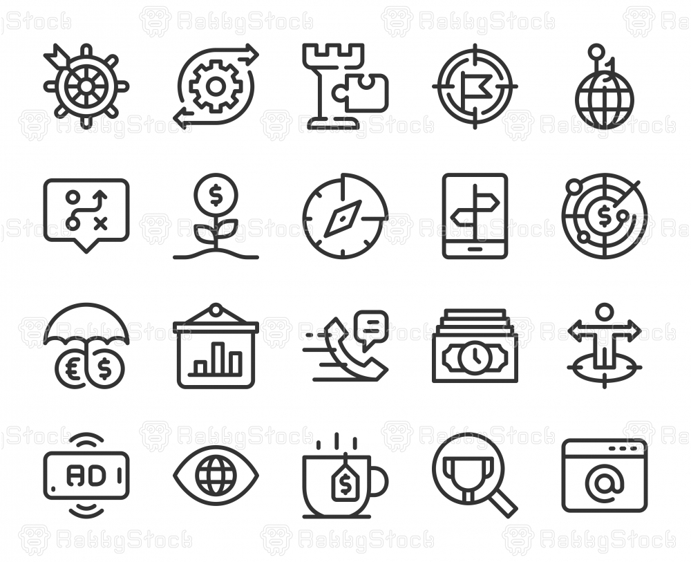 Business Strategy - Line Icons