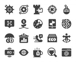 Business Strategy - Icons stock