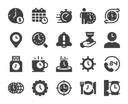 Time Management - Icons stock