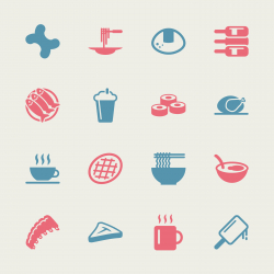 Food and Drink Icons 2 - Color Series   EPS10