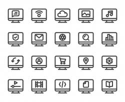 Desktop - Bold Line Icons