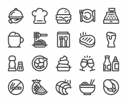 Restaurant - Bold Line Icons