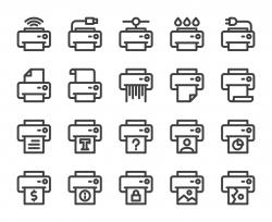 Printer - Bold Line Icons