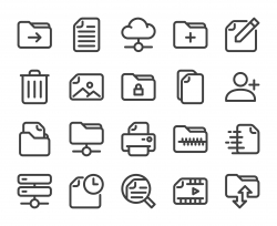 Storage Management - Bold Line Icons