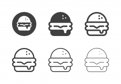 Cheeseburger Icons - Multi Series