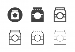 Food Paper Bag Icons - Multi Series