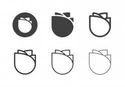 Rose Flower Icons - Multi Series